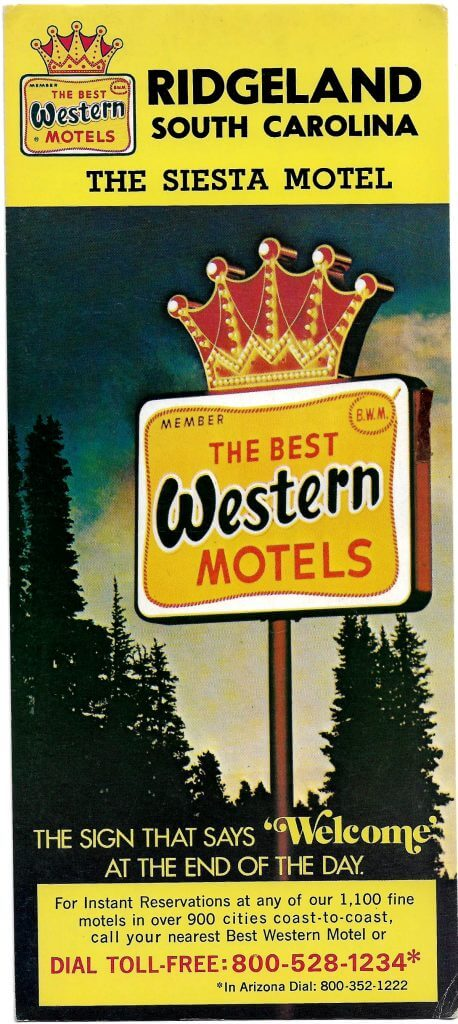 siesta motel advertising print