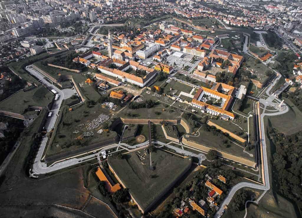Alba Iulia bird view