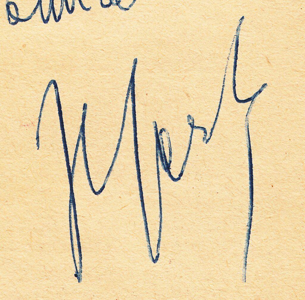 Sartre's autograph