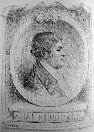 The portrait of Augustin Renouard