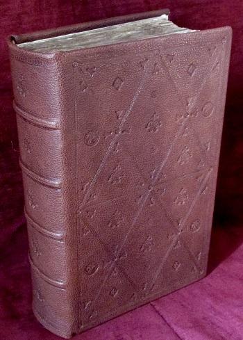 "The first Bible in Romanian language, printed in Alba Iulia, 1648. Book in ""byzantine binding"" by A. Ceklic."
