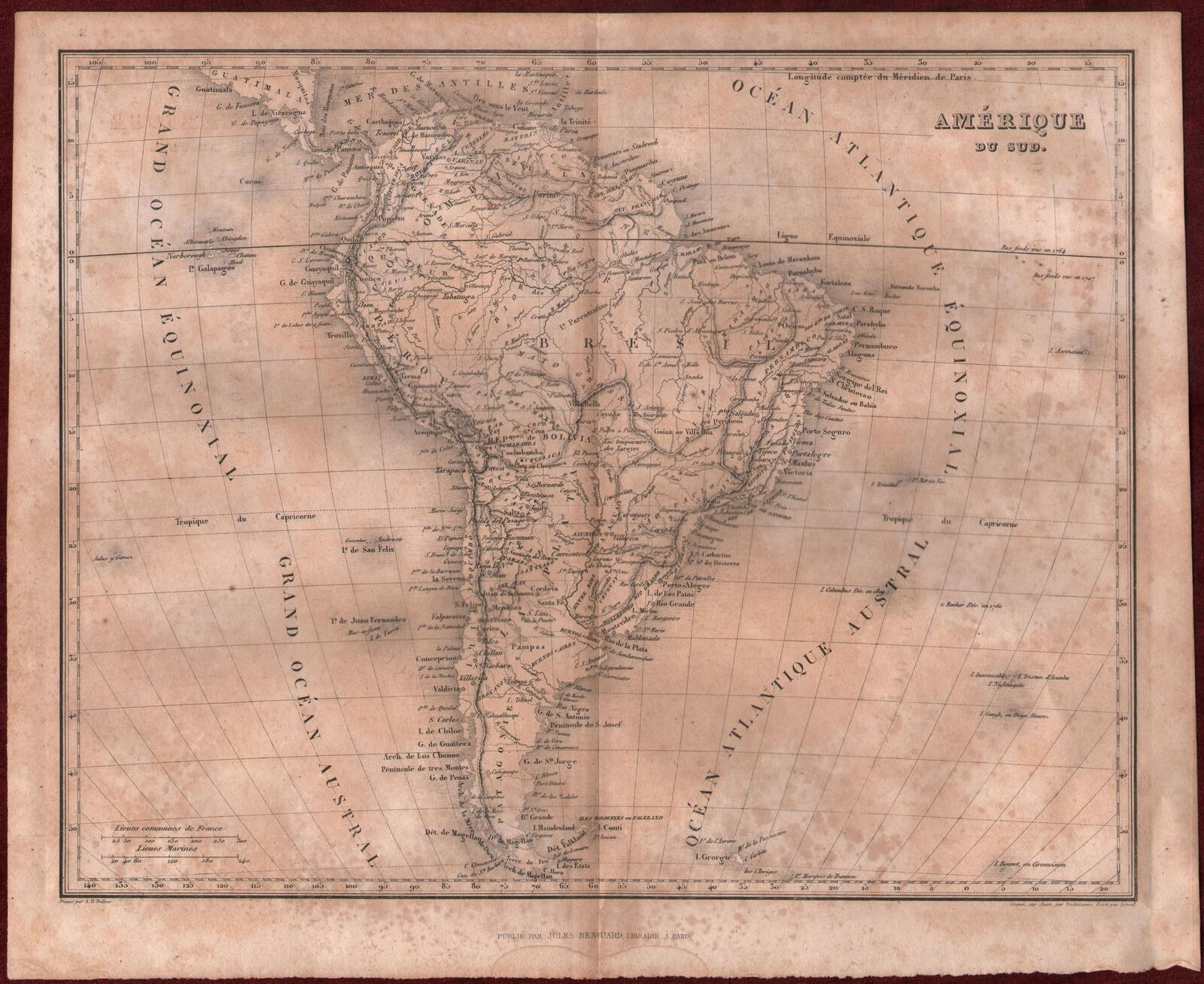 One of the maps printed by Jules Renouard