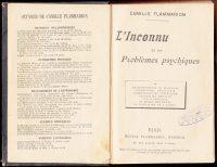 1900-Linconnu-et-les-problemes-psychiques-Flammarion-Parapsychology-Science-401296690080