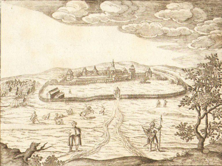 1665-Copperplate-Hungary-Engraving-Fortress-Nembti-Lukas-Schnitzer-German-401141921327