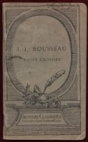 1928-Pages-choisies-de-J-J-Rousseau-Literature-Philosophy-Auteurs-Classique-401552692867