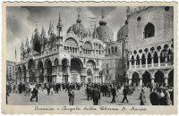 1938-Original-Vintage-Postcard-Venice-Italy-Kikinda-Saint-Mark-Basilica-183186054199